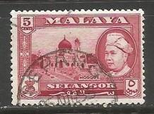 MALAYA SELANGOR 105 VFU O260-3