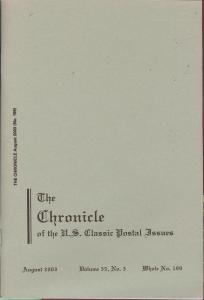 The Chronicle of the U.S. Classic Issues, Chronicle No. 199