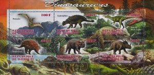 Dinosaur Souvenir Sheet of 6 Stamps Mint NH