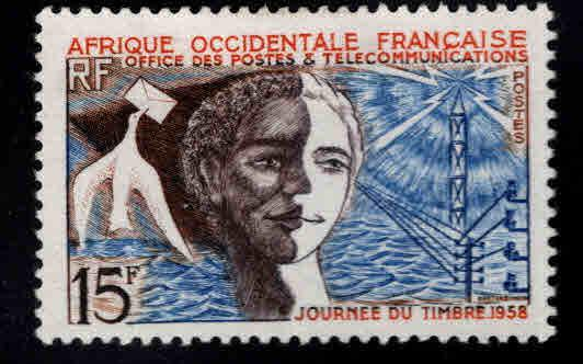 French West Africa Scott 76 MH* FOA stamp