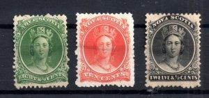 Nova Scotia 1860-63 mint collection Cat Val £68 WS15771