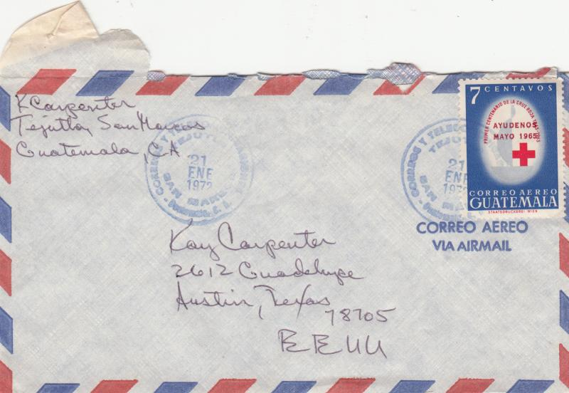 Guatemala C323 Used on Airmail Cover