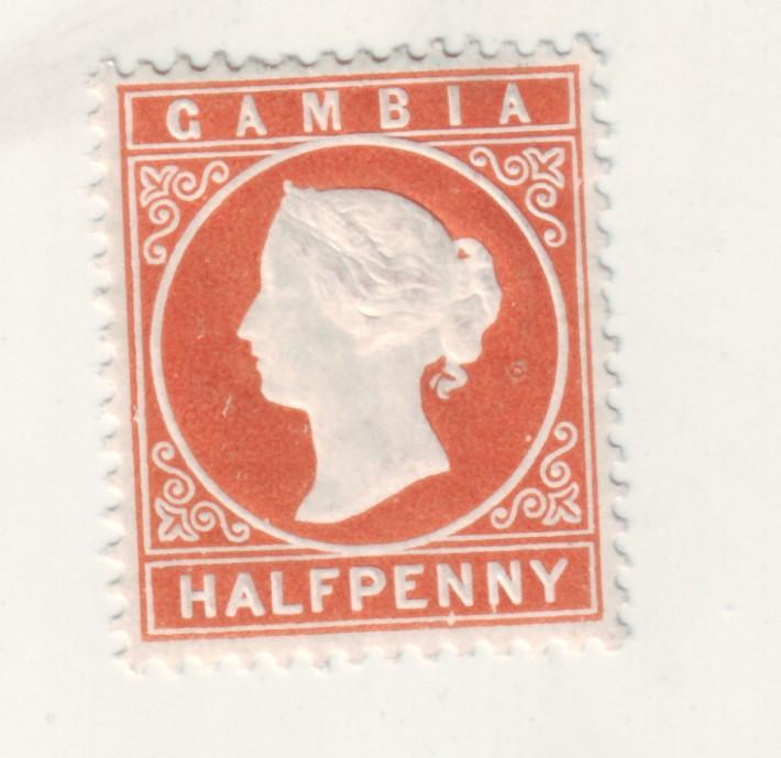 J16434 JLstamps 1880 gambia mh #5 queen