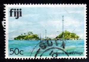Fiji #422 Serua Island Village issued in 1980.PM