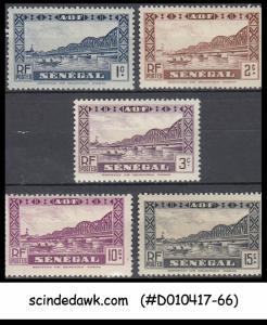 SENEGAL - 1935-40  SCOTT#142-44, 147-148 - 5V - MINT NH
