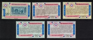 Haiti Bicentenary of American Revolution 5v SG#1332-1336