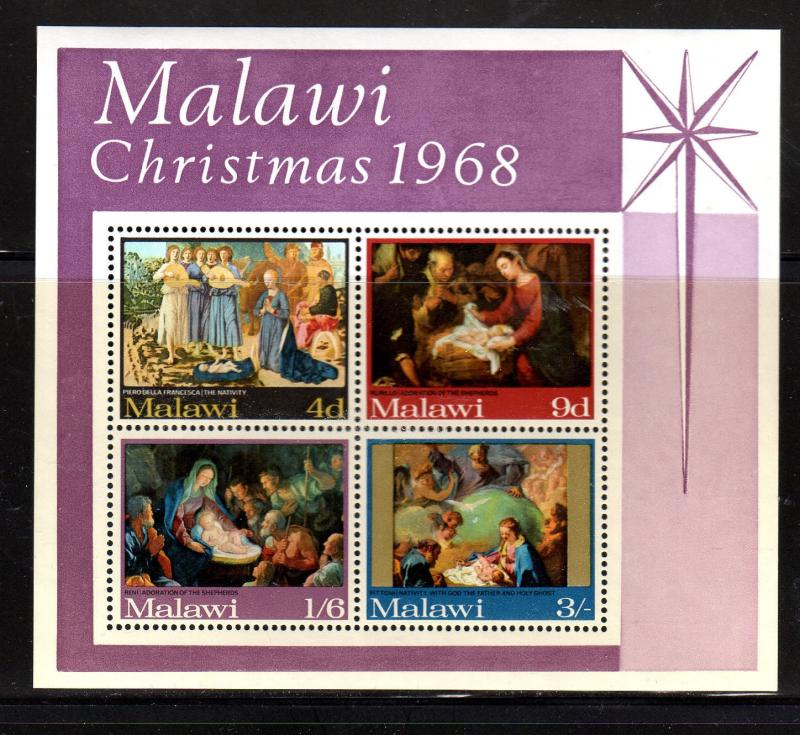 MALAWI #94a  1968  CHRISTMAS MINT  VF NH  O.G  S/S