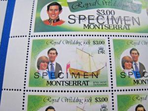 MONTSERRAT  -  SCOTT # 465-470  - SPECIMENS  -  MNH