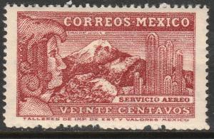 MEXICO C177A 20¢ 1934 Definitive Wmk Gobierno...279 MINT, NH. VF.