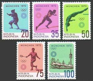 Indonesia 823-827,MNH.Michel 711-715. Olympics Munich-1972.Self defense Silat,