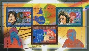 The Beatles Stamp Ringo Starr John Lennon George Harrison S/S MNH #4299-4301