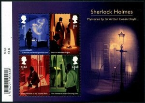 HERRICKSTAMP NEW ISSUES GREAT BRITAIN Sherlock Holmes Souvenir Sheet