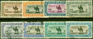Sudan 1936-37 Perf 11.5 x 12.5 Set of 8 SG52b-57e Fine Used (2)