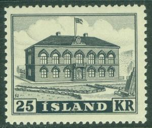 EDW1949SELL : ICELAND 1952 Scott #273 Very Fine, Mint NH Nice stamp Catalog $240