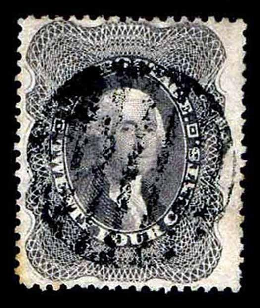 US.#37 USED REGULAR ISSUE OF 1860 - ALMOST VF - $325.00  (ESP#7041)