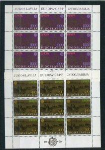 D093797 Europa CEPT 1979 Post & Telecommunication MNH Sheetlets Yugoslavia