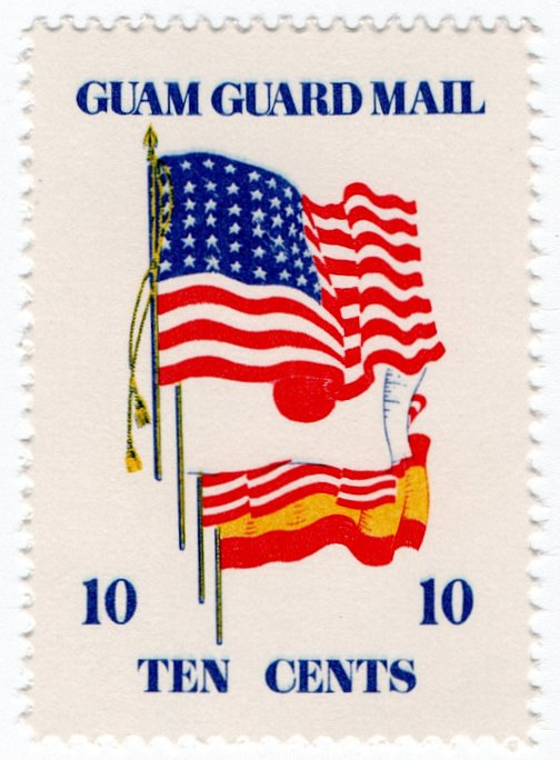 (I.B) Guam Local Post : Guam Guard Mail 10c (Flags)