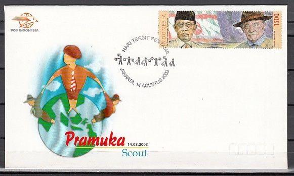 Indonesia, Scott cat. 2037. Baden Powell Scout Founder issue.  First day cover.