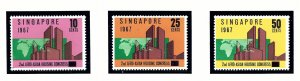 Singapore 80-82 MNH 1967 Afro-Asian Housing Conference