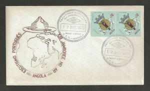 1970 Angola Portugal Boy Scout XIII Jamboree on Air