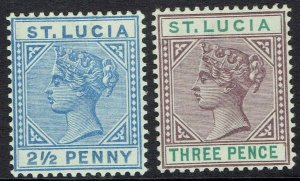 ST LUCIA 1891 QV 21/2D AND 3D DIE II