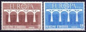 Andorra. 1984. 175-76. Europe. MNH.