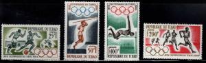 Chad TCHAD Scott C15-C18 MH* Olympic airmail set