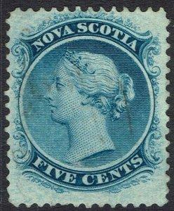 NOVA SCOTIA 1860 QV 5C WHITE PAPER USED