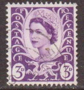Great Britain-Wales     #1  used  (1958)