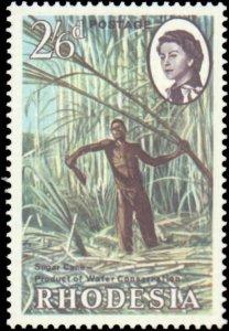 Rhodesia #203-205, Complete Set(3), 1965, Dams, Never Hinged