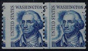 1304 - 5c Misperf Error / EFO L/P Line Pair Washington Mint NH