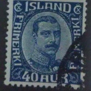 ICELAND Scott Cat #124*(1920)