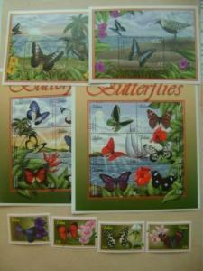 Palau 2000 butterflies set+2s/s+2klb MNH