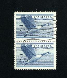Can #320   pair used VF 1952 PD