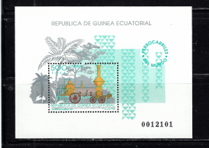 Equatorial Guinea 168 MNH 1991 Old Locomotive S/S