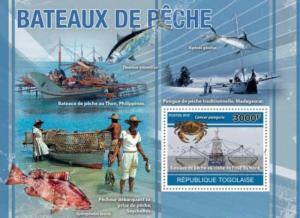 Togo - 2010 Fishing Boats -  Stamp Souvenir Sheet - 20H-155