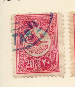 Turkey 1909 Early Issue Fine Used 20p. 087272
