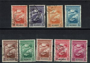 D - Mozambique 1938 Airmail set #1/9 used