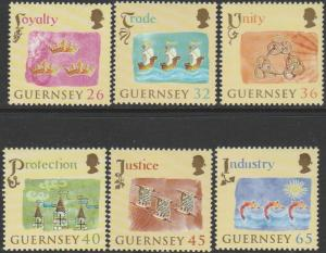 Guernsey, #838-843  Unused  From 2004