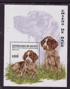 Guinea-Sc#1346-unused NH sheet-Animals-Dogs-German Pointers-1996-