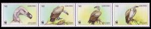 Lesotho WWF Cape Vulture Birds Strip of 4v SG#1378-1381 MI#1276-1279 SC#1091 a-d