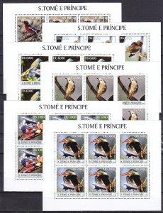 S. Thomas, Scott cat.1484 A-F. Various Birds & Concorde, 6 sheets of 6. ^
