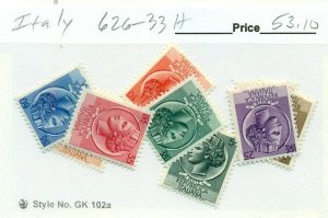 ITALY #626-33, Mint Hinged, Scott $53.10
