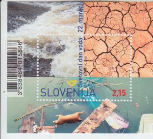 2019 Slovenia World Water Day SS (Scott NA) MNH