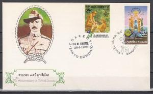 Thailand, Scott cat. 982. Scout issue with Dom. Rep. Combo First day cover.