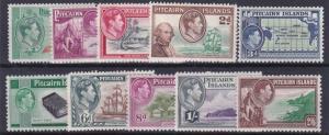 PITCAIRN ISLANDS  1940  S G 1 - 8  SET OF 10  MH CAT £75 NO3