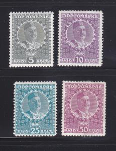 Montenegro J23-J26 Set MH Postage Due Stamps (A)