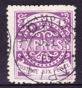 SAMOA 1877 6 Pence Express Bright Violet SG6 Type 11 Used