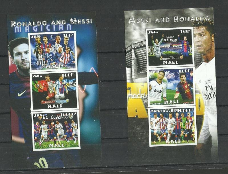 Sport  Football Messi And Ronaldo  imperf. 2016 (pr.issue) / W3