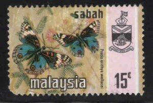 Malaysa Sabah  Scott 29 Used Butterfly stamp